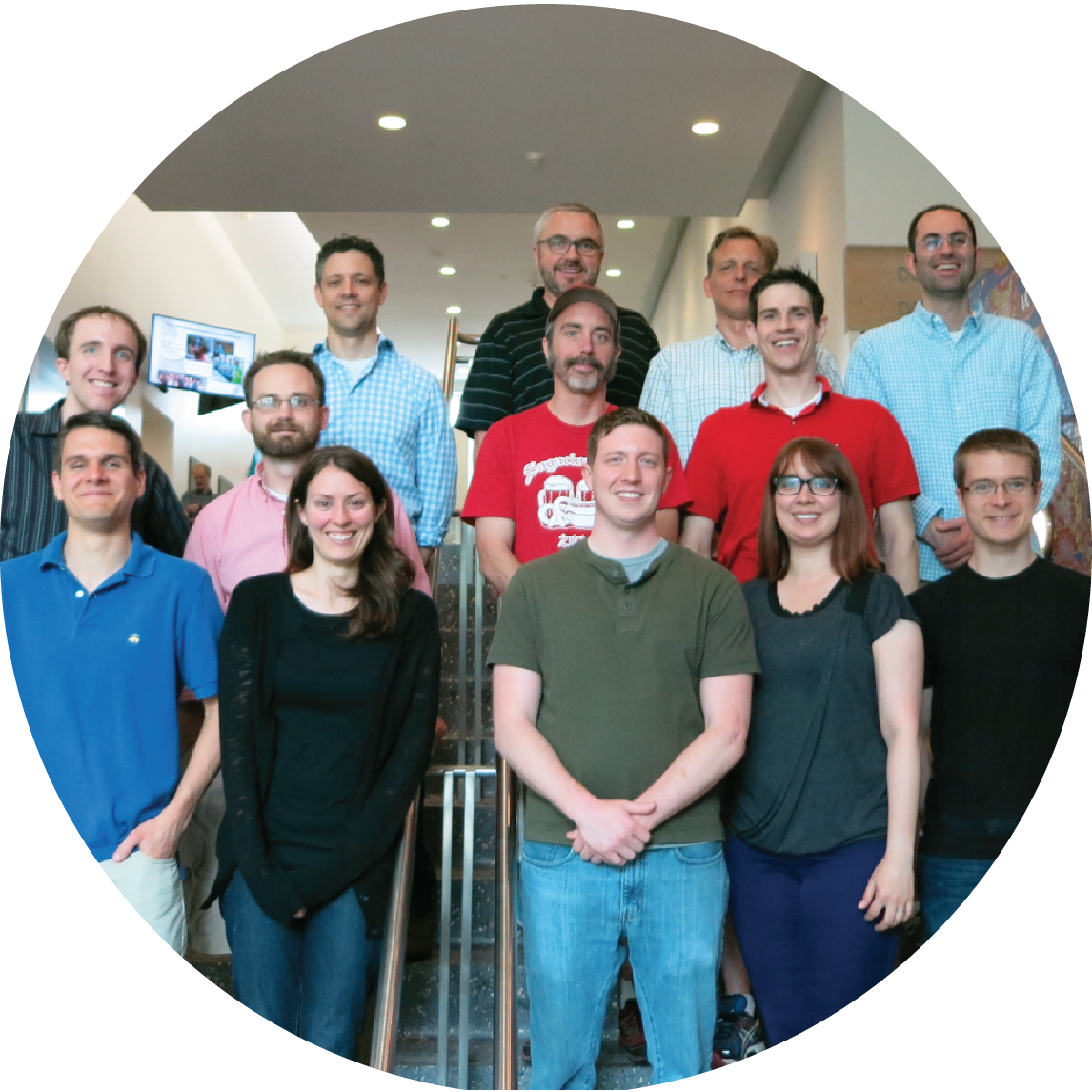 Team Y3K. Back Row (Left to Right): Dave Pagliarini, Mike Westphall, Alan Higbee, Josh Coon<br>Middle Row: Mike Veling, Alex Hebert, Adam Jochem, Arne Ulbrich<br>Front Row: Nick Kwiecien, Alicia Richards, Matt Rush, Elyse Freiberger, Jon Stefely<br>Not Pictured: Kyle Robinson, Paul Hutchins, Xiao Guo, Zach Kemmerer, Kyle Connors, Edna Trujillo, Jacob Sokol, and Harald Marx